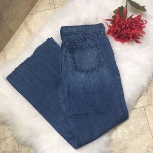 Wide leg jeans size 10👖 old navy flirt